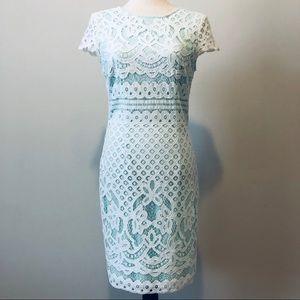 Light Teal Lace Easter Dress